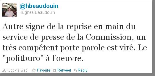 Le service de presse de la commission europ enne sous le for Porte parole