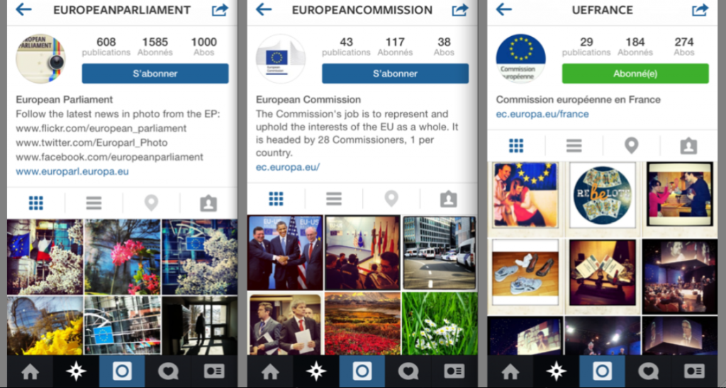 Instagram_institutions_europeennes