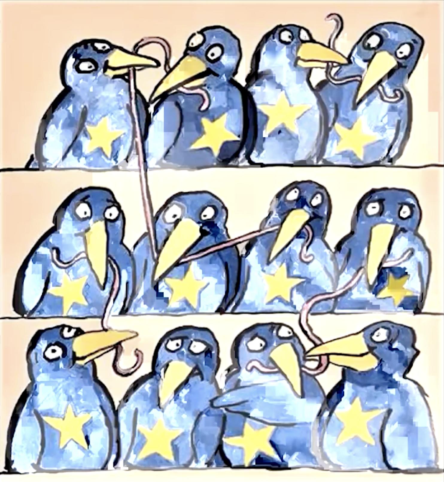 dessin_Tomi_Ungerer_les_Europeens_s_entraident